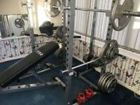 RYNO POWER RACK WITH 202 kg WEIGHTS