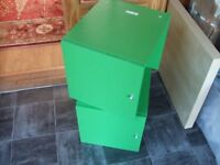 2 x Discontinued IKEA Green Kallax/Expedit Door Inserts for Shelfs/Shelving Unit Essex Collection.