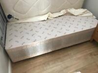 Single divan bed and new mattress