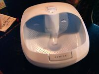 FOOT SPA COMBINED WHIRL AND MASSAGER WITH PERFUMED OILS, £15. GATESHEAD.