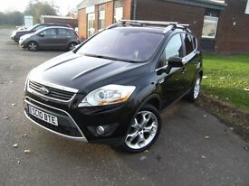DIESEL !!! 2010 10 FORD KUGA 2.0 TITANIUM TDCI 2WD 5d 134 BHP ** GUARANTEED FINANCE *** FULL LEATHER