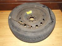 SPARE WHEEL (STEEL) WITH GOOD TYRE AND TOOLS