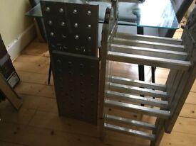 Folding platform ladder hardly used