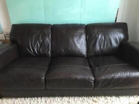 DFS 'Caesar' Three Seater Sofa & Footstool for sale