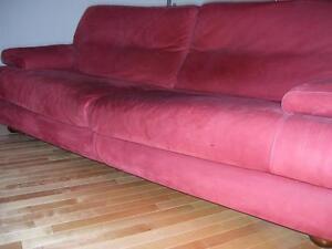 Magnifique fauteuil en cuir nubuck