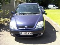 RENAULT SCENIC 1-4 EXPRESSION 16v 5-DOOR MPV 2002. NOVEMBER 26th 2016 MOT.