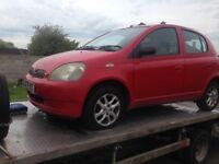 TOYOTA YARIS GLS BREAKING FOR SPARES PARTS (RED )