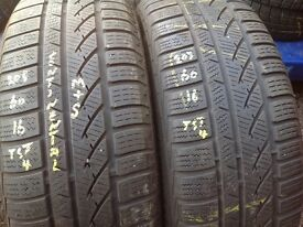 Second hand tyres-205/60/16 sets & pairs available / open 7 days a week