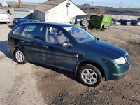 2002 SKODA FABIA 1.9 SDI CLASSIC 5 DOOR HATCHBACK ESTATE GREEN 12 MONTHS M.O.T