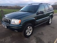 Jeep Grand Cherokee Limited 4x4 Automatic Turbo diesel service history Full Mot P/X Considered