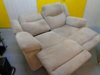 Two seater Recliner sofa. Deliveries are also available