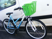 """LADIES 26"""" WHEEL BIKE WITH FITTED NEW BASKET 20"""" FRAME IN GREAT WORKING ORDER"""