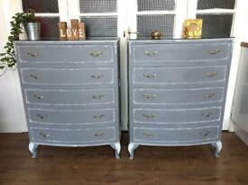 PAIR CHEST FREE DELIVERY LDN🇬🇧SHABBY CHIC