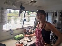 Cook/Chef with a sense of adventure. Join us as we cruise the canals and rivers of Southern England
