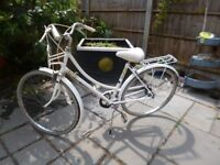 Vintage Raleigh Caprice Bike Liz Pepperill, White frame with flowers