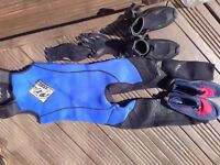 Childs Wetsuit/Boots and Gloves
