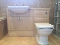 Toilet and Basin Vanity Unit