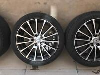 VW POLO ALLOY WHEELS AND TYRES 16""