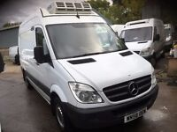 mercedes sprinter fridge van.MWB. 58 REG.STANDBY.AIR CON.1 OWNER.