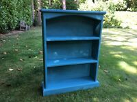 Hand painted solid bookcase in Annie Sloan Provence