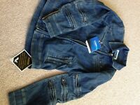 Triumph branded ladies denim motorcycle jacket