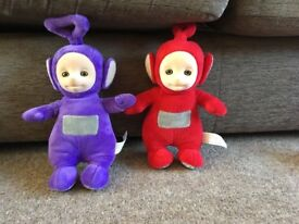 Two talking Teletubbies for sale
