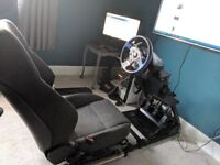 GT Omega Racing Rig with Wheel and Pedals