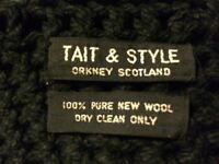 1980s TAIT & STYLE PURE NEW WOOL RASTA HAT - WORN ONCE