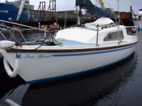 Prelude 19 including a Mariner 6Hp 4stroke outboard. Recently serviced. Sea toilet and fin keel