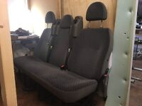 Ford transit / tourneo triple van seats with belts, very good condition