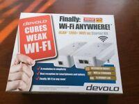 Wi-Fi ac Starter Kit dLan 1200 by Devolo 2xGIGABIT LAN supports Microsoft and Mac