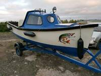 16ft fishing boat and trailer