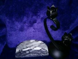 Small marble letter rack and candle holder