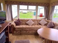 Super 8 berth caravan for hire at Sandy Bay near Newbiggin By The Sea,A Excellent prices available