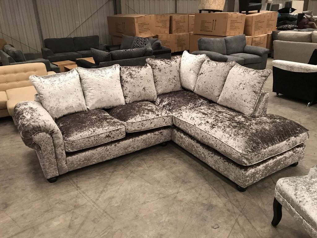 velvet modular sofa