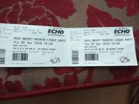 Premier League Darts Tickets x2 Seated Together