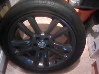 Xj alloys wheel have been power coat it