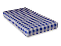 Brand New Sealed Visco Therapy Economy Spring Rolled Mattress - Single, Blue