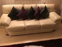 3 piece real leather sofa for sale
