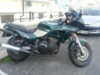 Triumph Sprint 900, 28000 miles, in daily use so milage may go up a tad...