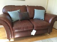 Sofa-Laura Ashley Mortimer Heritage Leather Sofa only 7 months old