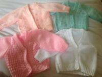 Handmade knitted cardigans