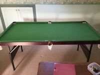 Pool/snooker table 6'