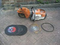 petrol grinder good working order extra blades and a spare brand new belt