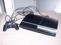 SONY PLAYSTATION 3 MODEL NO. CECHK03 BLACK 80GB WITH GAMES