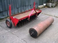 SCH TURFCARE SYSTEM - 1.5M AERATOR / SPIKER & 1.5M ROLLER, ideal paddock, sports field, large lawn.
