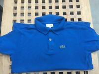 Blue boys Lacoste T Shirt Age 10