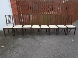 8 Ikea Borje Chairs FREE DELIVERY 505