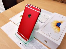 CUSTOM Apple iPhone 6S 16GB RED & WHITE (Unlocked) GREATE CONDITION MUST SEE!