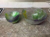 1 Large Bowl and 6 Small Bowls